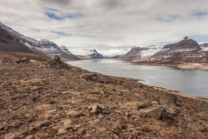 Mountains around the Fjord - Iceland