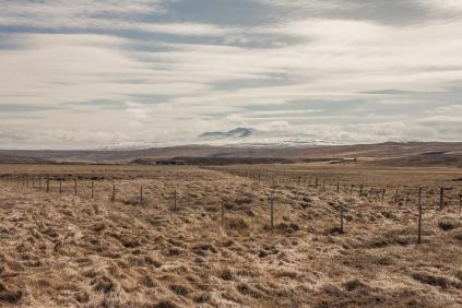 Distant Mountain - Iceland