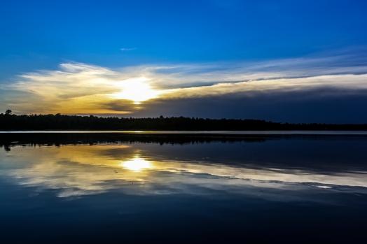 Reflecting Sunset - Dora Lake, Chippewa National Forest, Minnesota