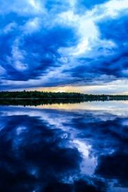 Cerulean Sunset - Dora Lake, Chippewa National Forest, Minnesota