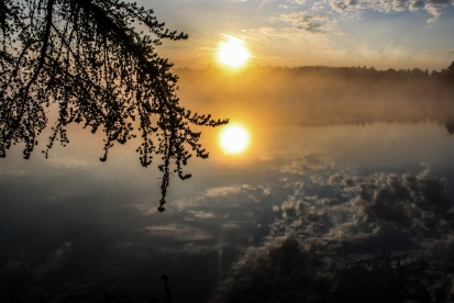 Reflecting Suns - Bear Head Lake State Park, Minnesota