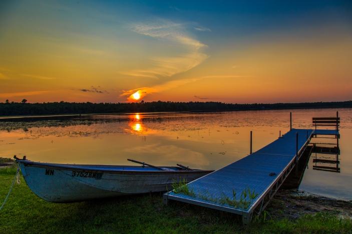 Cabin Sunset - Dora Lake, Chippewa National Forest, Minnesota
