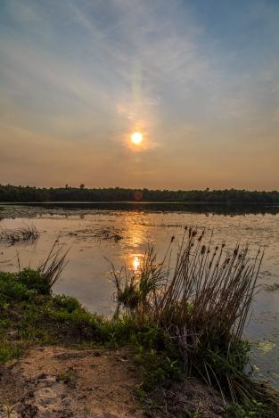 Lake Shore Sunset - Dora Lake, Chippewa National Forest, Minnesota
