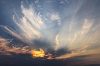 Cloud Sunset - Dora Lake, Chippewa National Forest, Minnesota