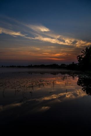 Sunrise Reflecting - Dora Lake, Chippewa National Forest, Minnesota