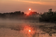 Misty Sunrise - Dora Lake, Chippewa National Forest, Minnesota