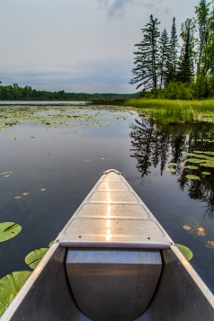 Canoeing the lake - Holland Lake, Chippewa National Forest, Minnesota