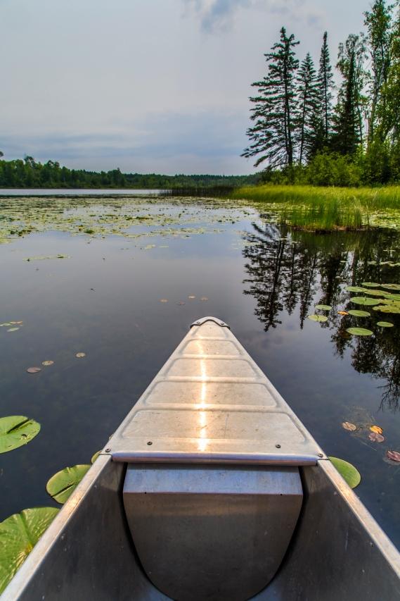 Canoeing the lake - Holland Lake, Chippewa National Forest, Minnesota
