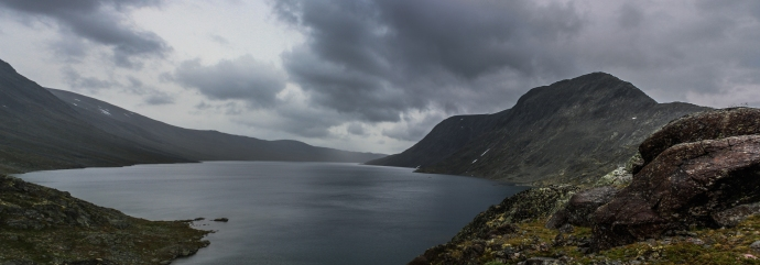 Besseggen by the Lake - Besseggen, Jotuneheimen Mountains, Norway