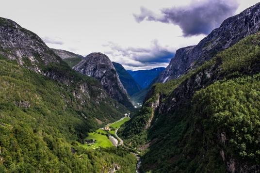 View from Stalheim - Stalheim, Norway