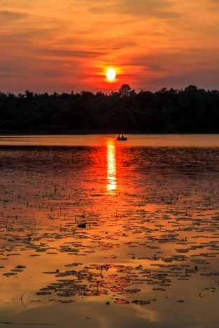Fishing at Sunset - Dora Lake, Chippewa National Forest, Minnesota