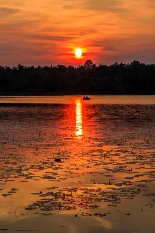 Fishing at Sunset - Dora Lake, Chippewa National Forest, Minnesota