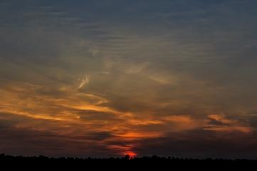 Smoky Sunset - Dora Lake, Chippewa National Forest, Minnesota
