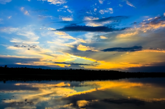 Colors of the Setting Sun - Dora Lake, Chippewa National Forest, Minnesota