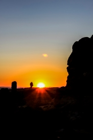 Silhouettes at Sunset - Arches National Park, Utah