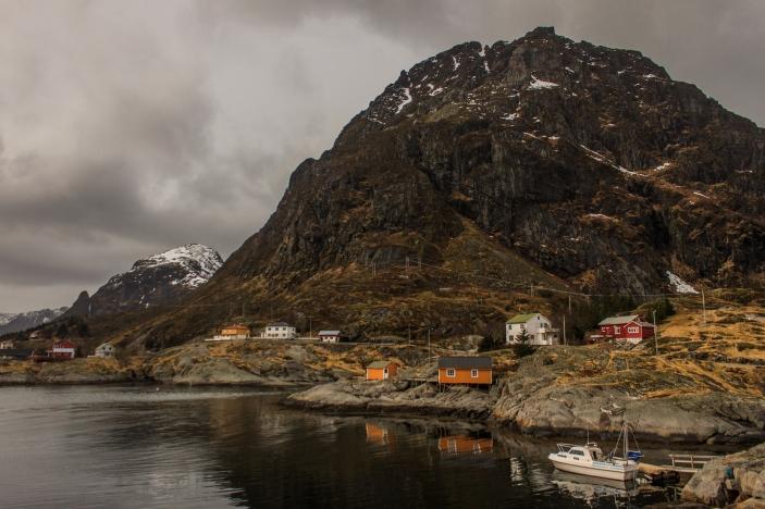 Village under the mountain - Å i Lofoten, Norway