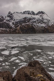 Frozen Lake - Lofoten, Norway