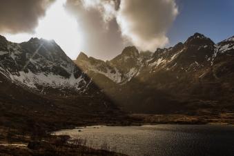 Piercing the clouds - Lofoten, Norway