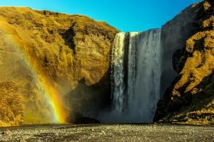 Skógafoss Rainbow - Skógafoss, Iceland
