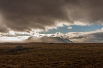Horses beneath the mountains - Iceland