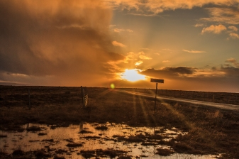 Sunset in western Iceland - Iceland