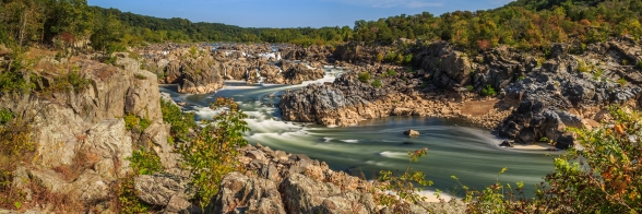 Great Falls Panorama - Great Falls Park, Virginia