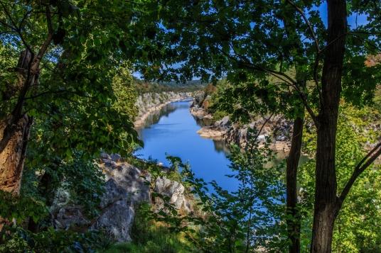 Potomac Framed - Great Falls Park, Virginia