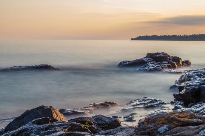 Lake Superior Sunset, Long Exposure Series 2 - Lake Superior, MN