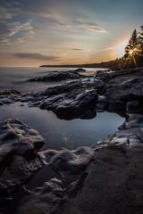 Lake Superior Sunset, Long Exposure Series 3 - Lake Superior, MN