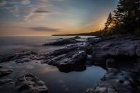 Lake Superior Sunset, Long Exposure Series 4 - Lake Superior, MN