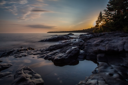 Lake Superior Sunset, Long Exposure Series 4 - Lake Superior, MN