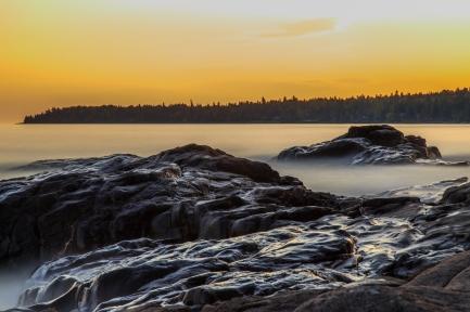 Lake Superior Sunset, Long Exposure Series 5 - Lake Superior, MN