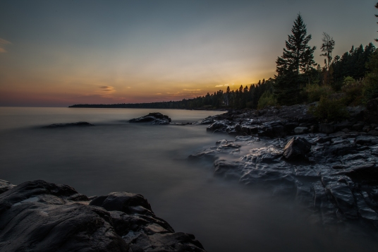 Lake Superior Sunset, Long Exposure Series 6 - Lake Superior, MN