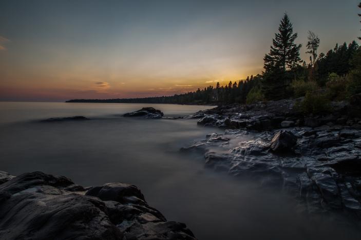 Lake Superior Sunset, Long Exposure Series 6 - Lake Superior, MN
