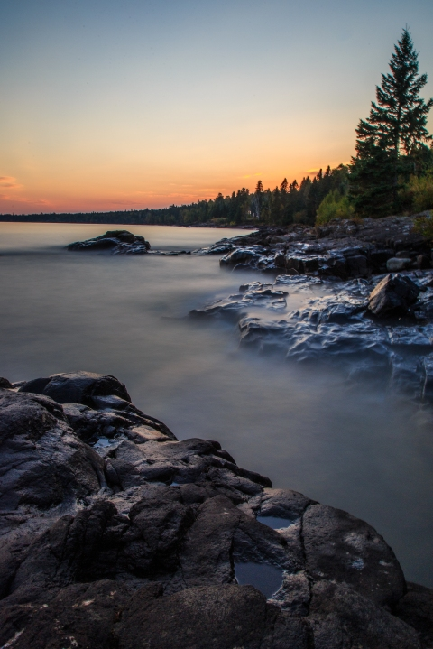 Lake Superior Sunset, Long Exposure Series 7 - Lake Superior, MN