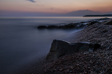 Lake Superior Sunset, Long Exposure Series 8 - Lake Superior, MN