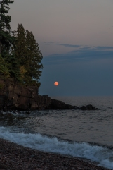 Blood Moon on Superior - Lake Superior, MN