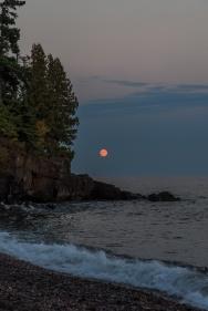 Blood Moon on Superior - Lake Superior, MN