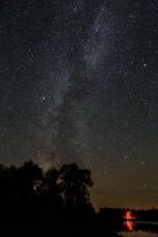 Campfire beneath the Milky Way - Dora Lake