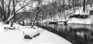 Winter River Reflecting - Straight River, Owatonna, Minnesota