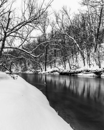 Winter River - Straight River, Owatonna, Minnesota