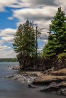 Long Exposure of Waves - Lake Superior, MN