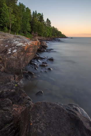 Long Exposure of Waves - Lake Superior, MN