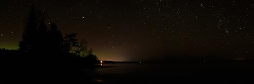 Northern Lights on Lake Superior - Lake Superior, Minnesota