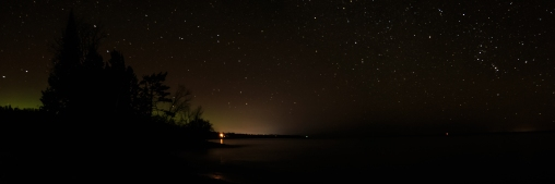 Northern Lights on Lake Superior - Lake Superior, Minnesota