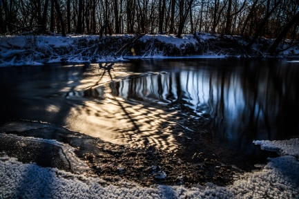 Straight River in Winter - Straight River, Owatonna MN