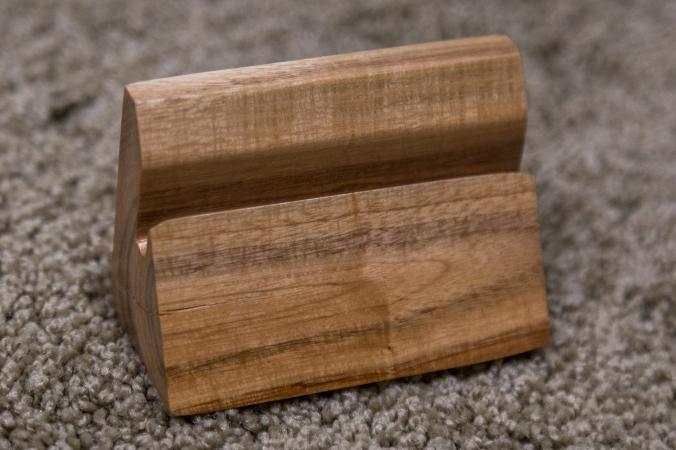 Plum Wood Business Card Holder