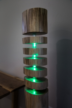 Black Walnut Log Stand Lamp