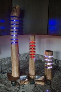 Black Walnut Floating Log Lamps