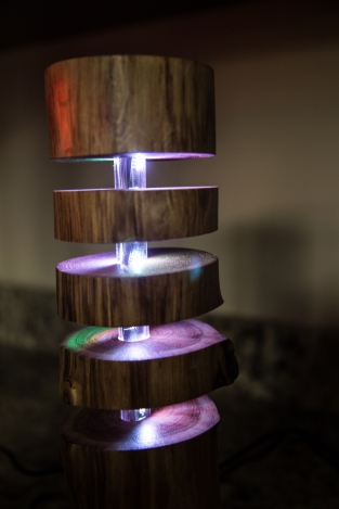 Black Walnut Floating Log Lamps